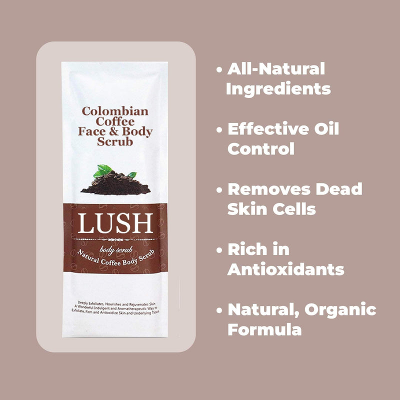 Lush Lush All Natural Exfoliating Coffee Body Scrub for Skin Care OODS0000405