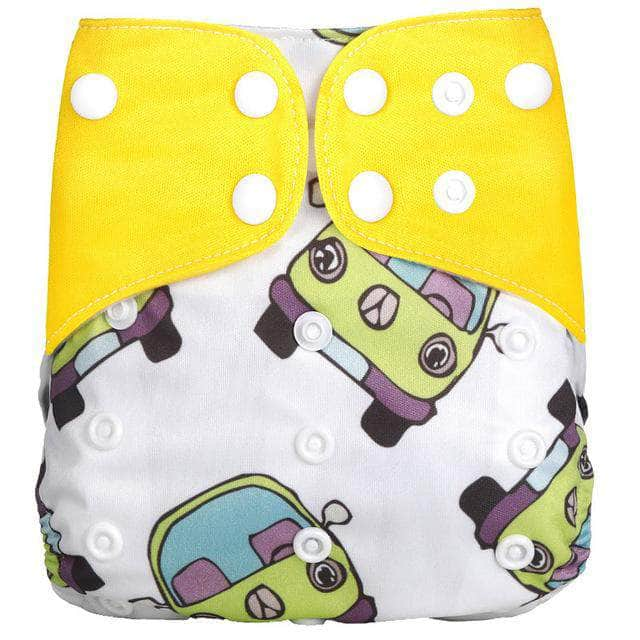 Melour Car Melour Reusable Cloth Diaper, Adjustable & Washable Baby Nappies | Yellow OODS0001121