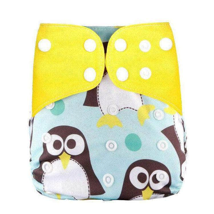 Melour Melour Reusable Cloth Diaper, Adjustable & Washable Baby Nappies | Yellow