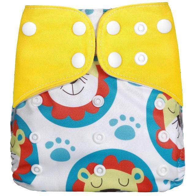 Melour Tiger Melour Reusable Cloth Diaper, Adjustable & Washable Baby Nappies | Yellow OODS0001122