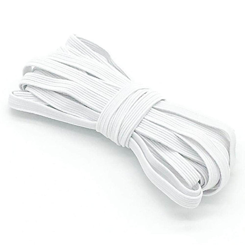 Modish White Modish Elastic Bands for Sewing and Crafting | 6mm, 5-Meters OODS0001329