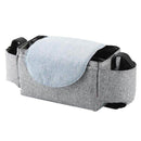 Muar Gray Muar Stroller Organizer Multifunctional Adjustable Baby Stroller Storage Bag OODS0000695