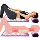 Ooala Neorm Acupressure Mat and Pillow Set for Back/Neck Pain Relief and Muscle Relaxation