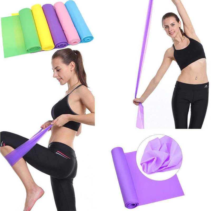 Omza Omza Exercise Resistance Bands, for Strength Training, Physical Therapy, Yoga, Pilates, & Stretching