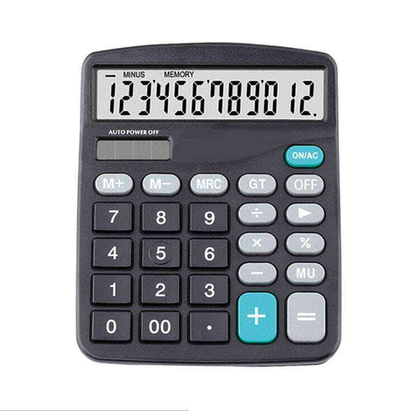 ClipShop 12-Digits Large LCD Display Basic Calculator with Solar Battery - Ooala
