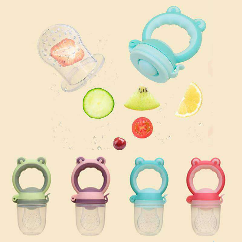 Ooala 1Pcs Baby pacifier Fresh Food Nibbler Kids Fruit Feeder Nipples Feeding Safe Baby Supplies Nipple Teat Pacifier holder Bottles