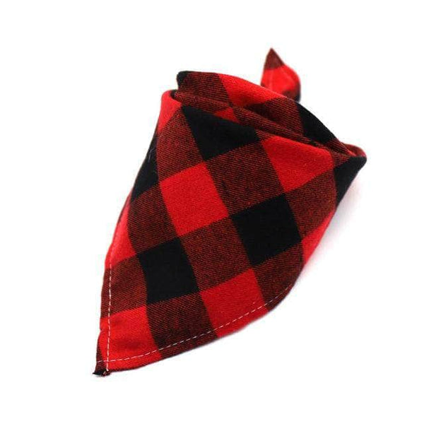 Ooala 9 / 42x42x60cm Dog Bandanas Large Pet Scarf Pet Bandana For Dog Cotton Plaid WashableBow ties Collar Cat Dog Scarf Large Dog Accessories 22914297-9-42x42x60cm