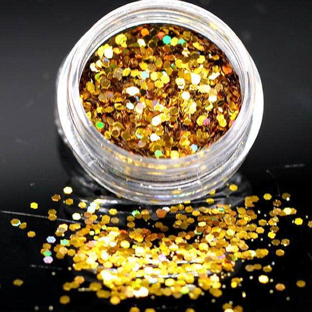 Ooala Gold Violet Holographic Sequins Glitter Shimmer Diamond 12 Colors Eye Shiny Skin Highlighter Face Body Glitter Festival Make CHt 25207651-1