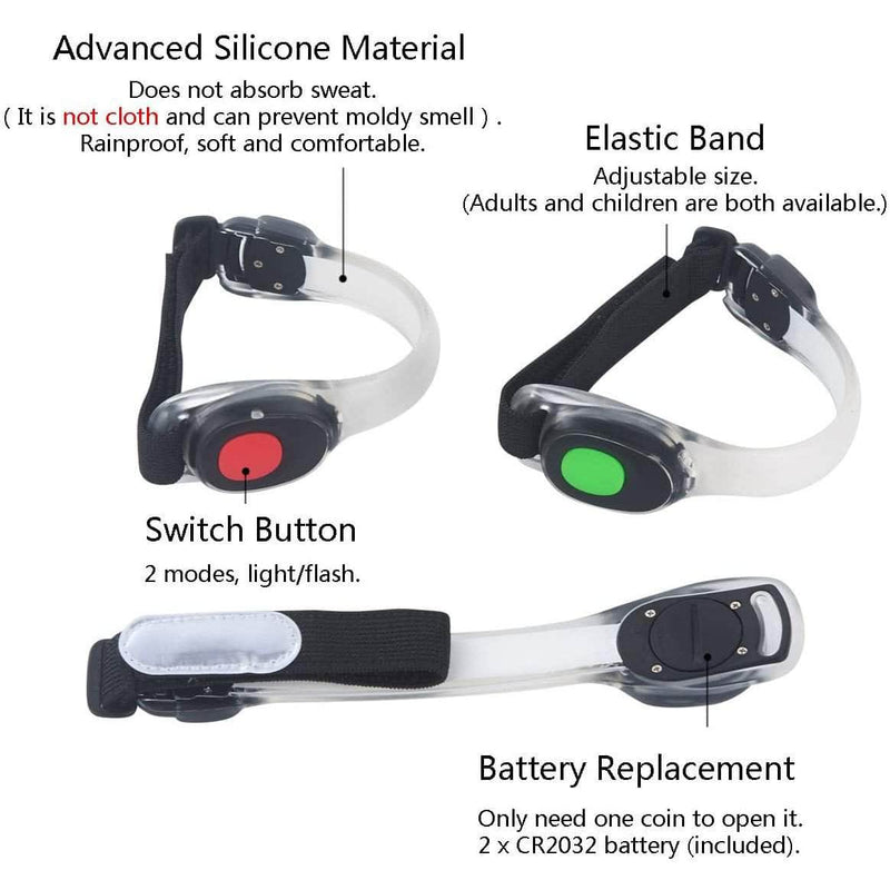 Ooala JRAG LED Reflective Silicon Armband Light for Night Outdoor Sport