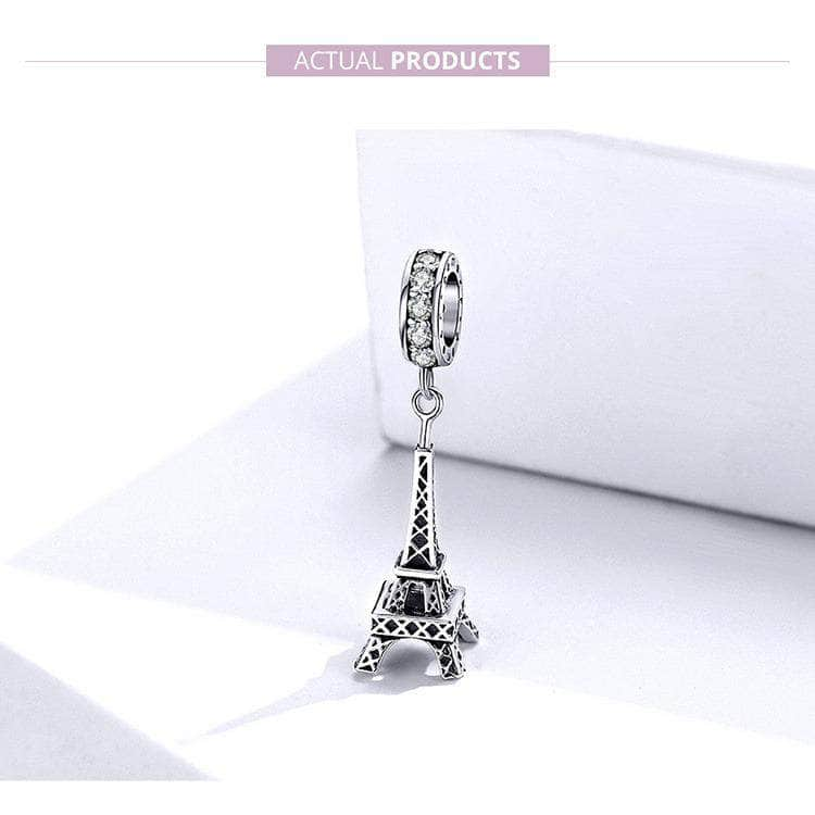 Ooala Lacic 925 Sterling Silver Paris Eiffel Tower Landmark Charms 32907797