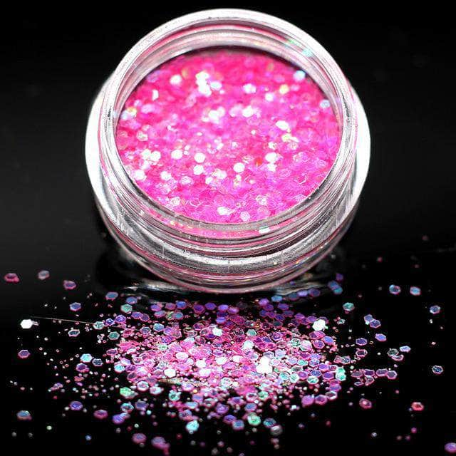 Ooala Pink Violet Holographic Sequins Glitter Shimmer Diamond 12 Colors Eye Shiny Skin Highlighter Face Body Glitter Festival Make CHt 25207651-5