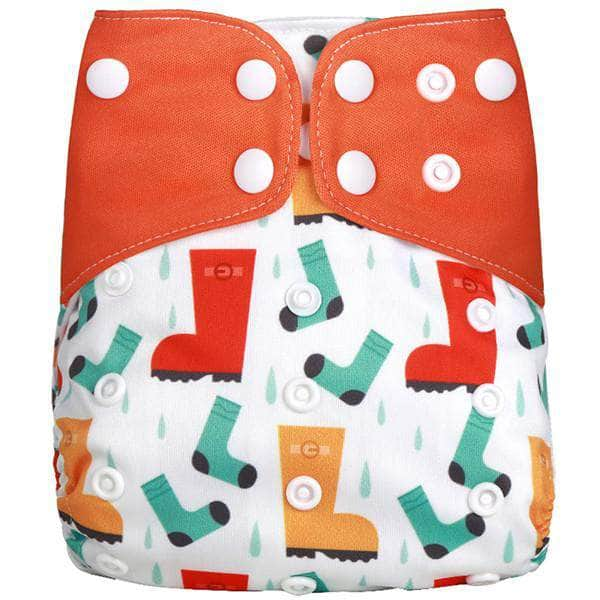 Ooala Rain Boots [simfamily] 1Pcs Reusable Cloth Diaper Adjustable Baby Nappies Washable Nappy Fit 3-15 Kg Baby Diaper OODS0001118