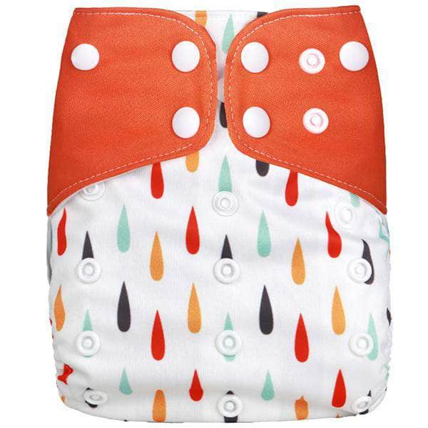 Ooala Rain Drops [simfamily] 1Pcs Reusable Cloth Diaper Adjustable Baby Nappies Washable Nappy Fit 3-15 Kg Baby Diaper OODS0001119