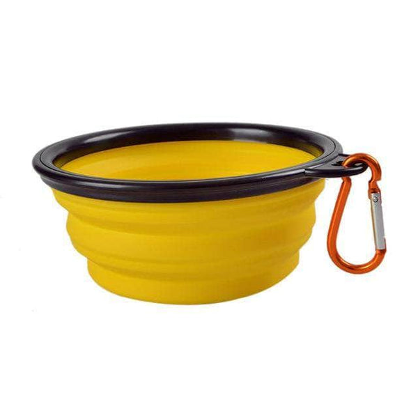 Ooala yellow / caliber13cm300ml Collapsible Dog Bowl 24535713-yellow-caliber13cm300ml