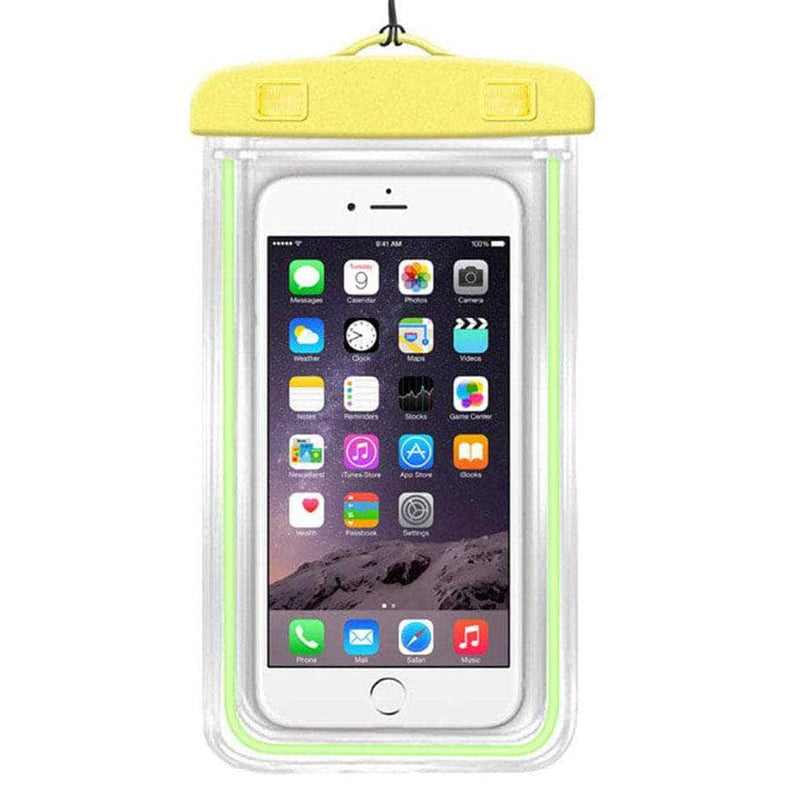 Ooala Yellow Color Luminous Waterproof Pouch OODS0001276