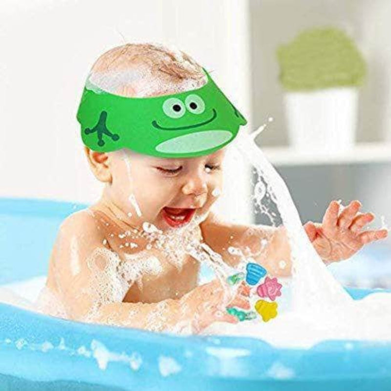 Oteq Baby Shower Bathing Cap | Soft & Adjustable Cartoon Hat