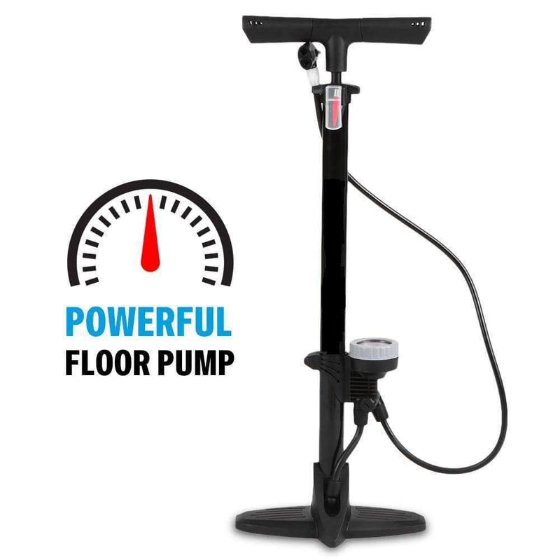 OutdoorZ Bicycle Floor Pump with High Pressure Gauge Up to 160 PSI - Ooala