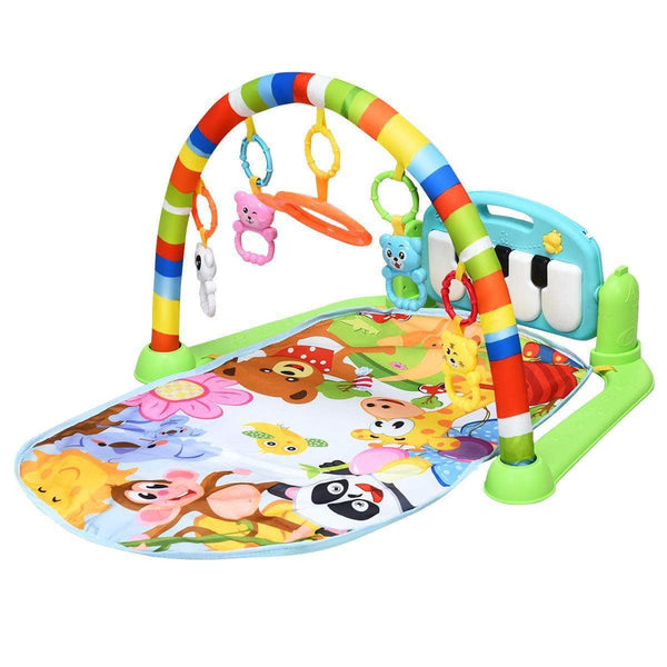 Peqon Green Peqon Baby Activity Gym Rack, Piano Fitness Playmat with 5 Activity Sensory Toys OODS0001464
