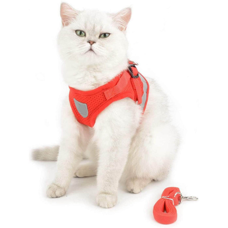 Pettix Pettix Adjustable Cat & Dog Vest Harness with Reflective Strap│Small Size