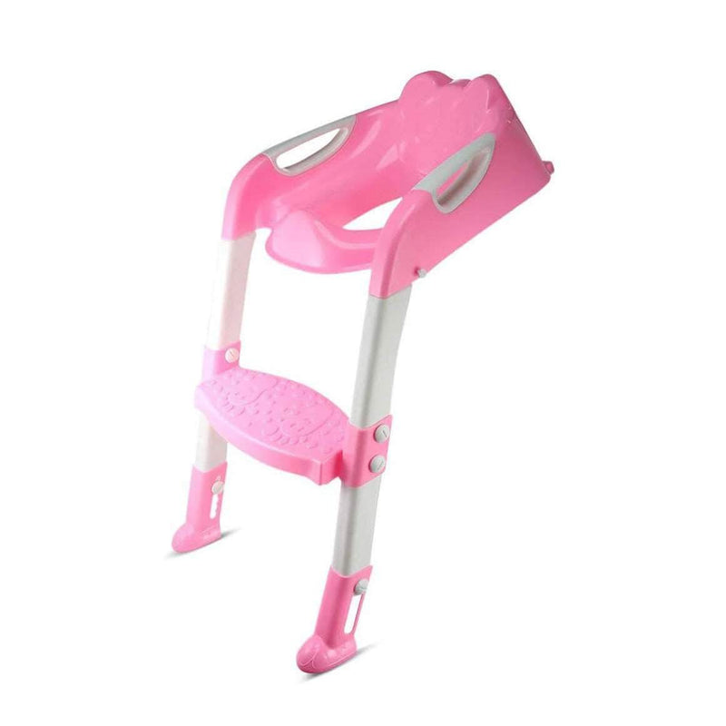 Potcity Pink Potcity Baby Potty Training Toilet Seat With Adjustable Ladder with Folding Seat OODS0000055