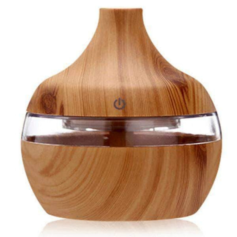 Purex Cool Mist Humidifier | Aroma Essential Oil Diffuser | Changing LED Lights, Lt. Wood Grain 300ml - Ooala