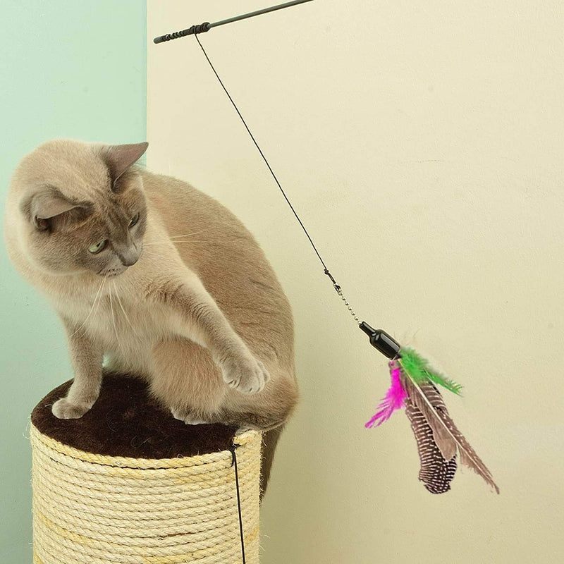 Purrade Purrade Cat Interactive Toy Stick | Feather Wand with Small Bell 25868443-type1