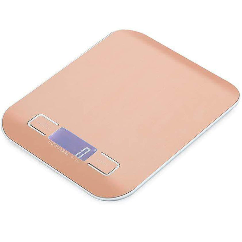SassyChai 5kg Stainless Steel Digital Weighing Kitchen Scale | Grams and Oz for Baking and Cooking - Ooala