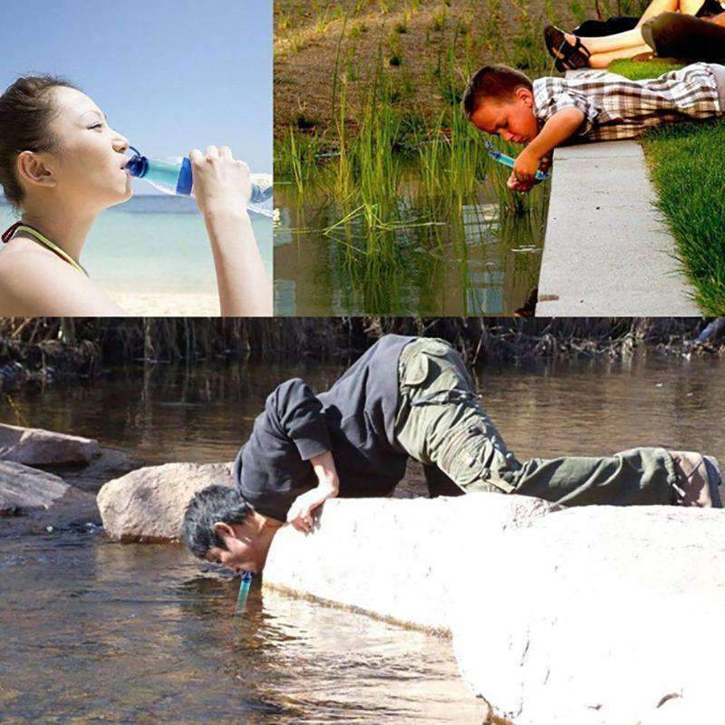 SaverStraw Emergency Drinking Straw & Portable Water Purifier for Camping & Hiking | 99.99% Filtration - Ooala