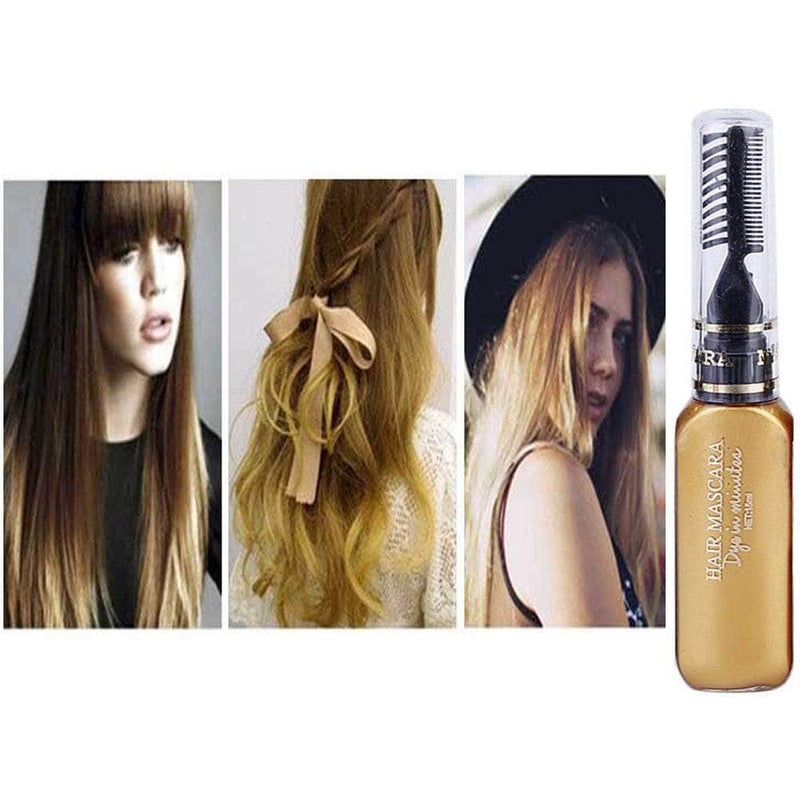 Serene Gold Serene Hair Color Dye | Non-toxic, Washable, DIY Hair Color Mascara OODS0001457