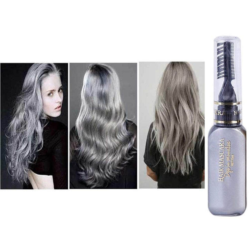 Serene Gray Serene Hair Color Dye | Non-toxic, Washable, DIY Hair Color Mascara OODS0001456