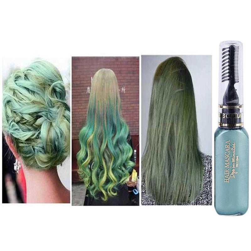 Serene Green Serene Hair Color Dye | Non-toxic, Washable, DIY Hair Color Mascara OODS0001455
