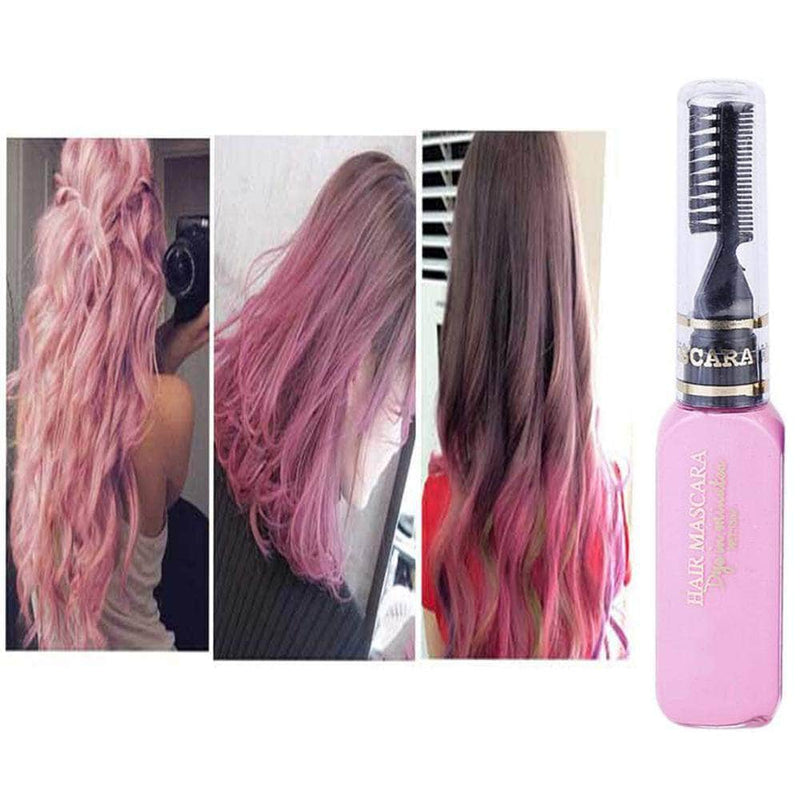 Serene Pink Serene Hair Color Dye | Non-toxic, Washable, DIY Hair Color Mascara OODS0001454