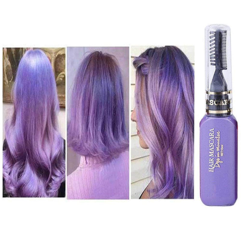 Serene Purple Serene Hair Color Dye | Non-toxic, Washable, DIY Hair Color Mascara OODS0001453