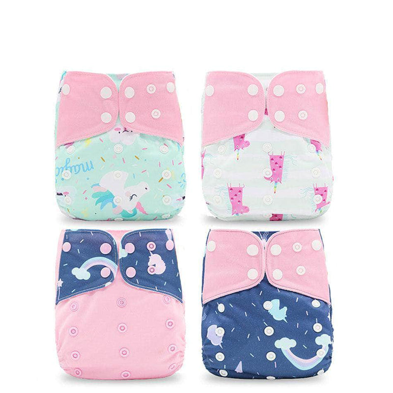Silica Pink Silica Eco-Friendly Cloth Diaper, Adjustable, Washable & Reusable Nappies OODS0001138