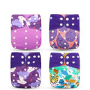 Silica Purple Silica Eco-Friendly Cloth Diaper, Adjustable, Washable & Reusable Nappies OODS0001141