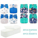 Silica Set 3 Silica Eco-Friendly Cloth Diaper, Adjustable, Washable & Reusable Nappies with Microfiber Inserts OODS0001136