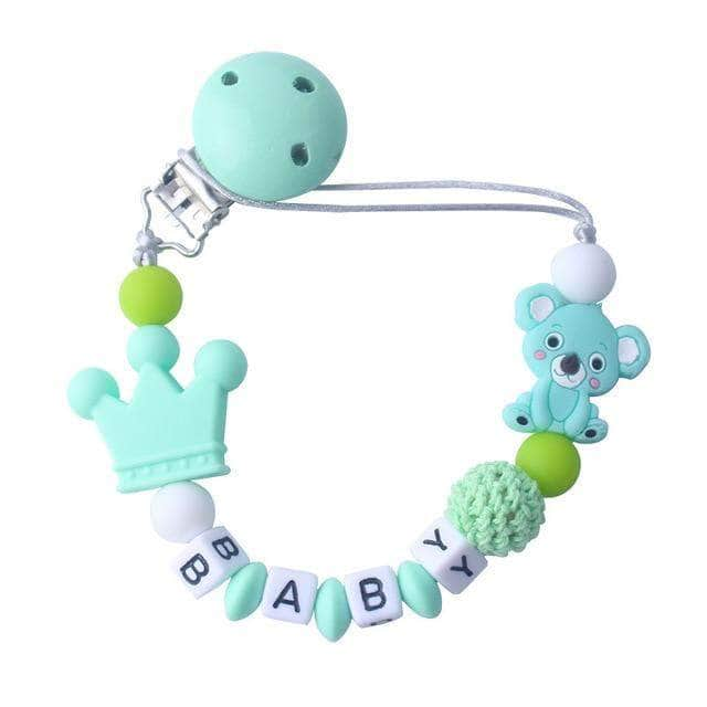 Siliconistic Green Siliconistic Customized Silicone Beads Pacifier, Baby Teething Soother Chew Toy OODS0000783