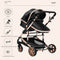Snugsie Snugsie 3-in-1 Baby Stroller | Multi-Functional and High-View