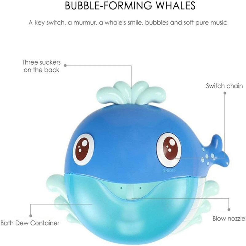 Squee Squee Bubble Machine Bath Toy | Whale Automatic Bubble Maker with Music OODS0001220