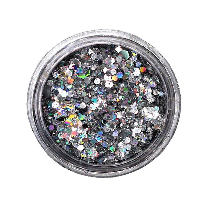 StyleZee Silver StyleZee Eye Glitter | Holographic Sequins Shimmer OODS0000943