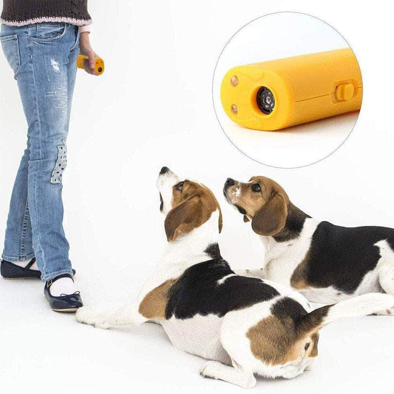 SurePet LED Ultrasonic Dog Repeller and Trainer 3 in 1 Anti- Barking Handheld Dog Training Device - Ooala