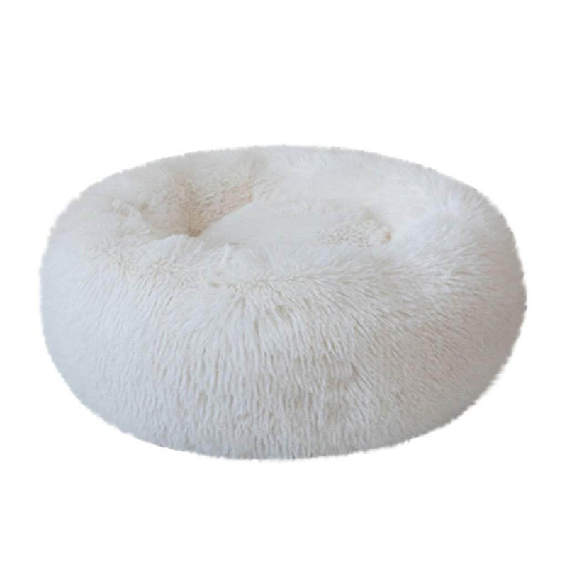 SurePet White SurePet Soft Plush Round Pet Bed Calming Self Warming Winter Indoor Snooze Sleeping Pet Bed OODS0000757
