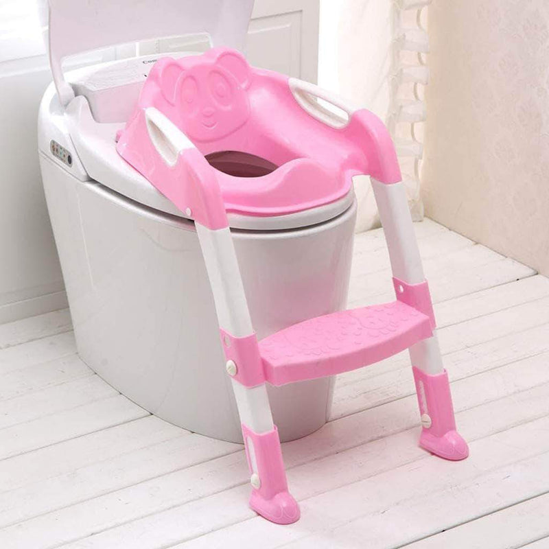 Sweet Potato Sweet Potato Baby Potty Training Toilet Seat With Adjustable Ladder with Folding Seat
