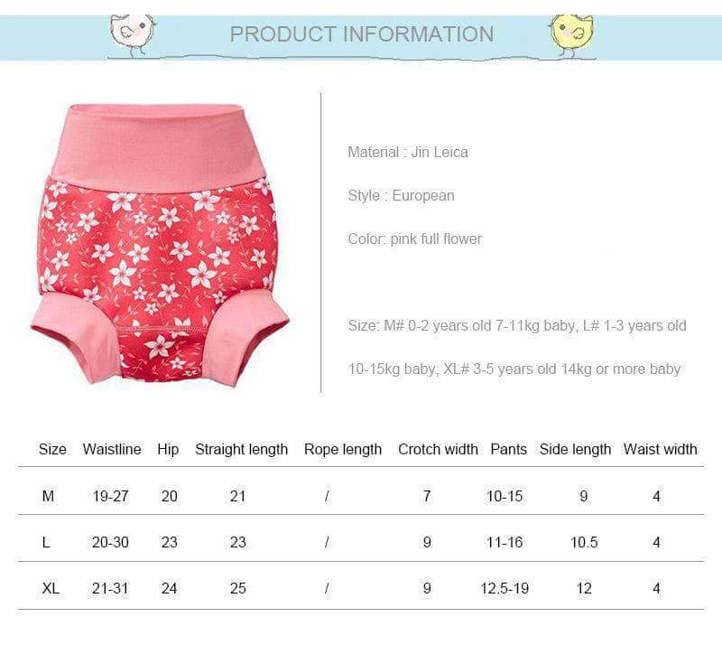 Swimmster Swimmster Infant Swimming Nappies, High Waist Swimming Trunks | Floral