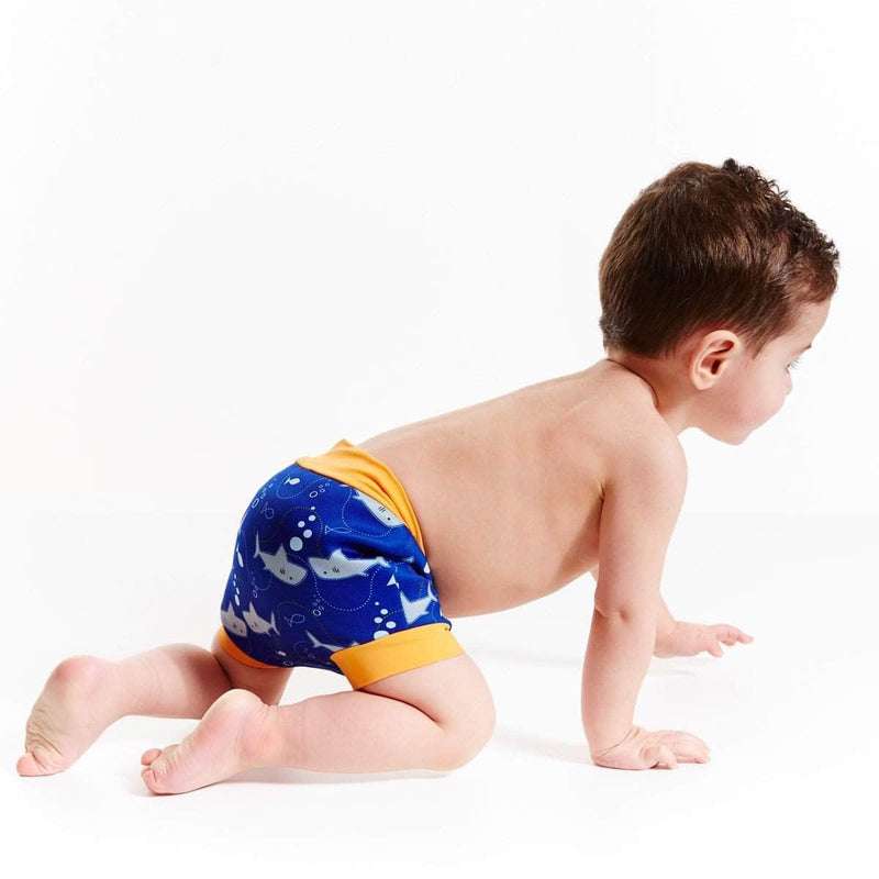 Swimmster Swimmster Infant Swimming Nappies, High Waist Swimming Trunks | Shark