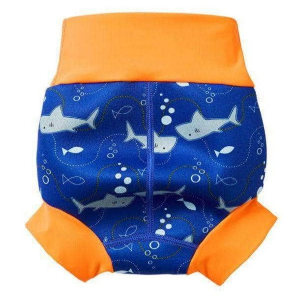 Swimmster Infant Swimming Nappies, High Waist Swimming Trunks | Shark