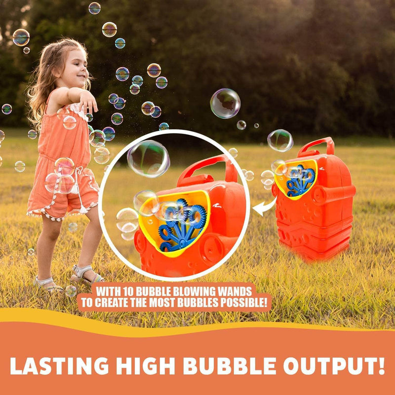 Syreos Syreos Bubble Machine for Kids | Durable & Automatic Bubble Maker Blower Outdoor Toy