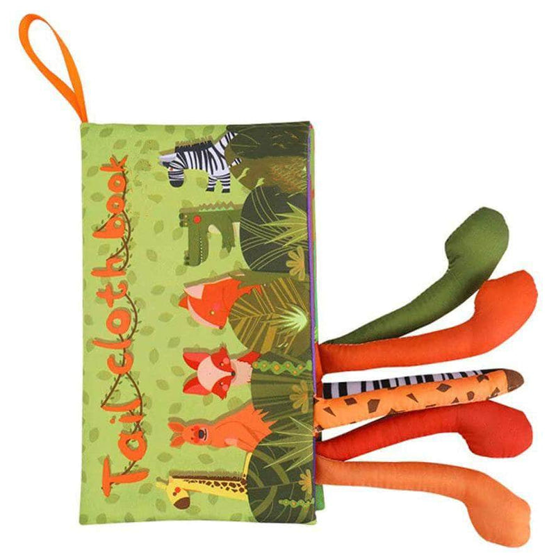 Texouse Green Soft Animal Tails Cloth Book OODS0001169