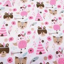 Textic Textic Cotton Fabric for Sewing Patchwork, Fat Quarters & DIY Pattern Crafts