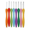 Tipine Tipine 8pcs Aluminum Ergonomic Crochet Needles with Colorful Soft Rubber Grip Cushioned Handles OODS0000523
